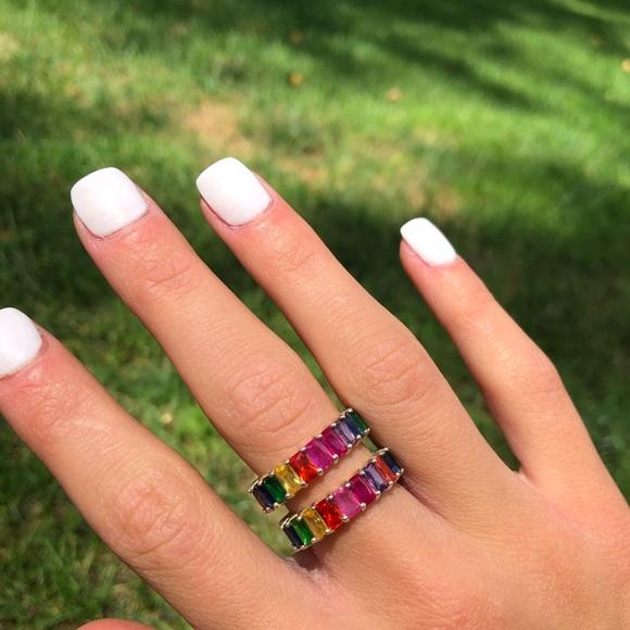 Adinas Jewels Jewelry - Adinas Jewels Rainbow Collection Rings.